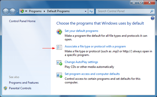 Windows 7 Set Program