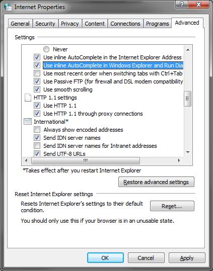 Inline autocomplete screenshot #1