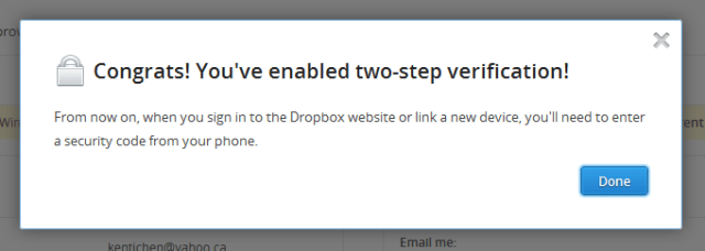 Dropbox 2-factor Auth wizard #5
