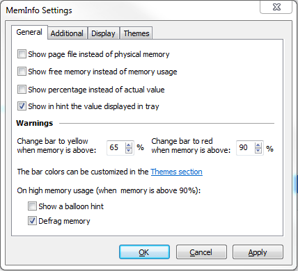 Meminfo Settings