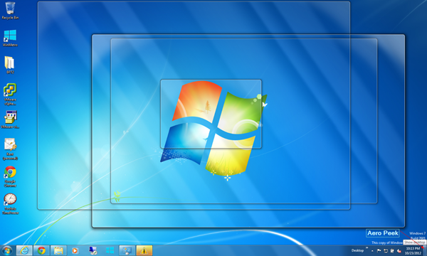 Windows 7 Desktop Peek