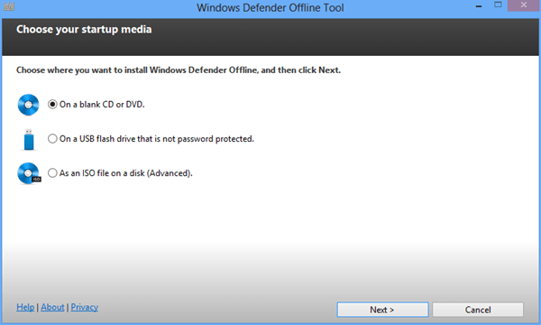 Windows Defender Offline - set up #2