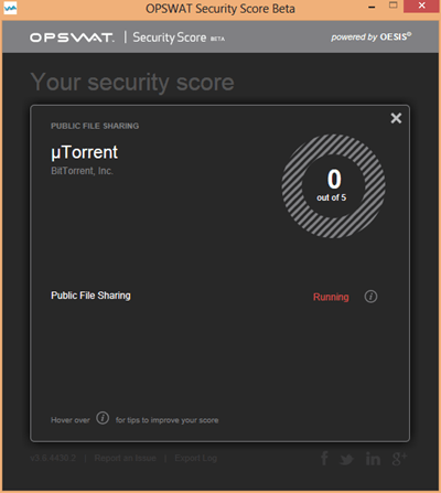 OPSWAT Security Score - File Sharing