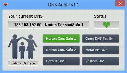 DNS Angel - main windows
