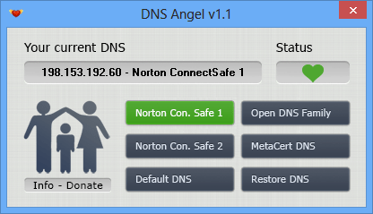 DNS Angel - main windows
