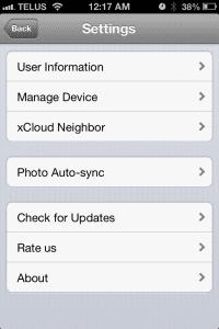 xCloud - iPhone settings