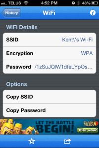 QRReader - sharing Wi-Fi