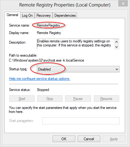 Remote Registry Service