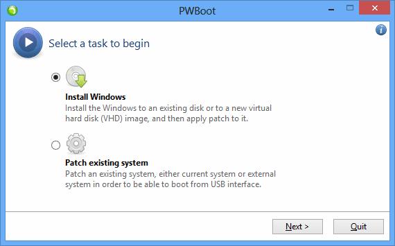 PWBoot - step 1