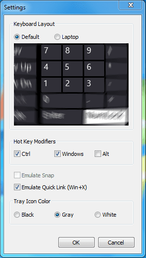 Snap Plus - settings