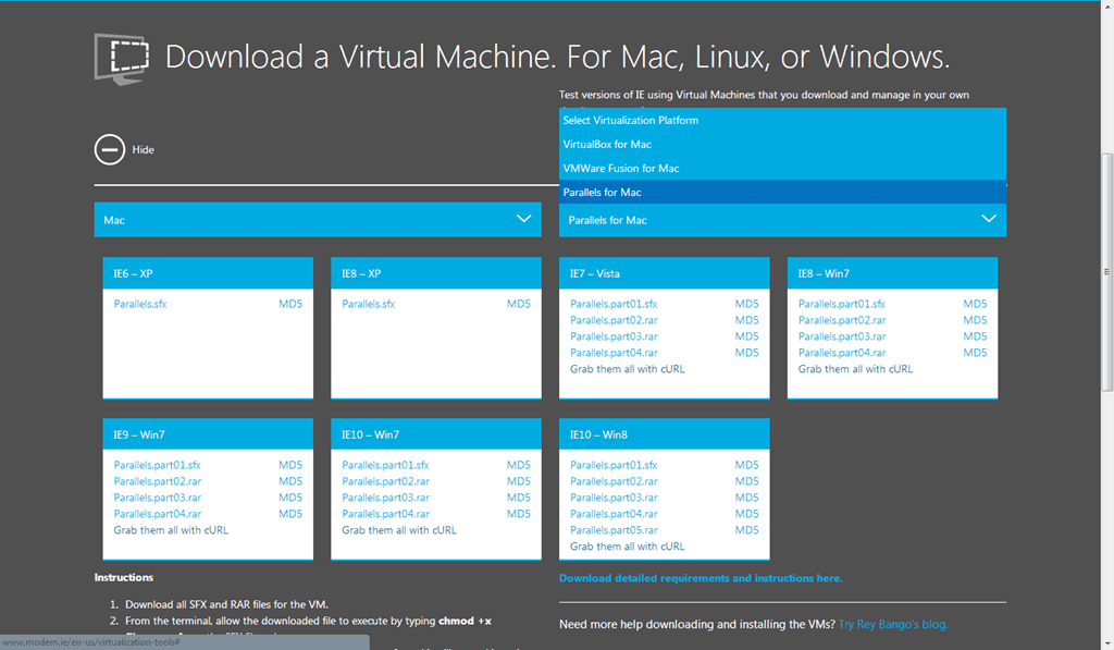 Download Latest Free Virtual Machine For Cross IE Browser Test for PC. Mac and Linux | Next of Windows
