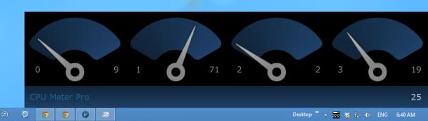 CPU Meter Pro - main screen
