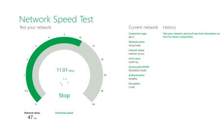 Figure 1 - testing download speed