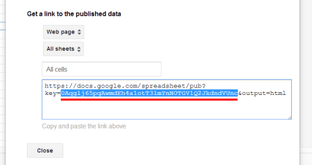 Google Spreadsheet Get Doc Key