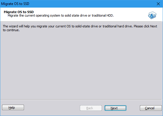migrate os from hard drive to ssd