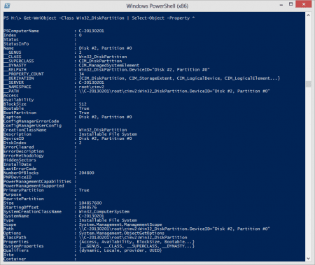 PowerShell - all properties about your partitions