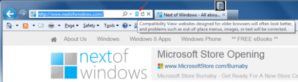 Compatibility View Button in IE 10