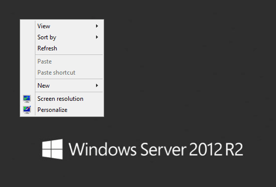 Server 2012 R2 - desktop experience enabled