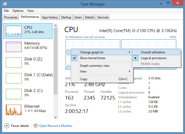 How to know how many memory slots are used