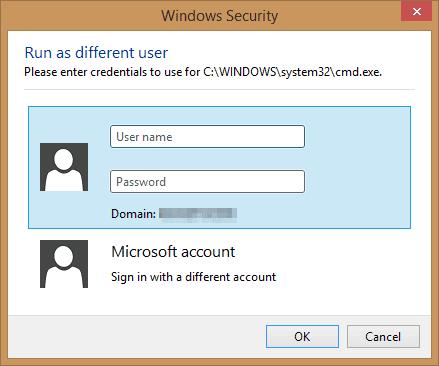 Windows Security popup