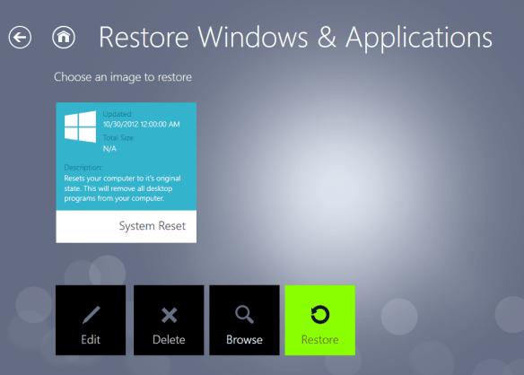 RecImg Manager - restore