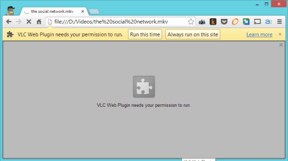 VLC needs your permission