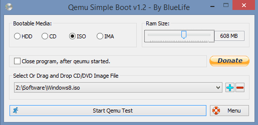 Qemu Simple Boot v1.2 - By BlueLife