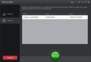 4.Restore-main screen