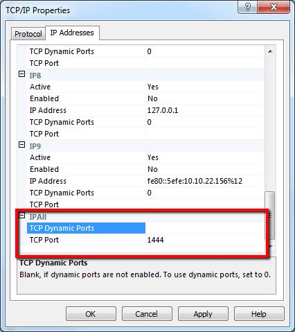 SQL IP address all