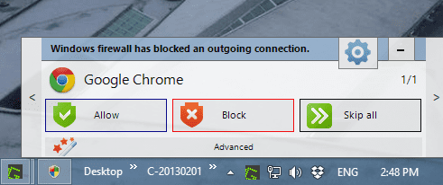 Windows Firewall Notifier - Notifications