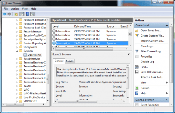 Sysmon - event viewer