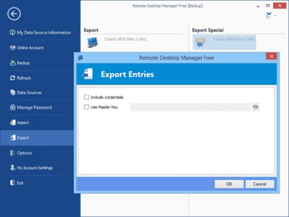 Remote Desktop Manager - Export