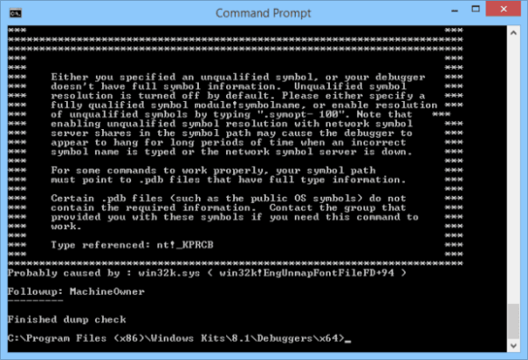 dumpchk - command prompt