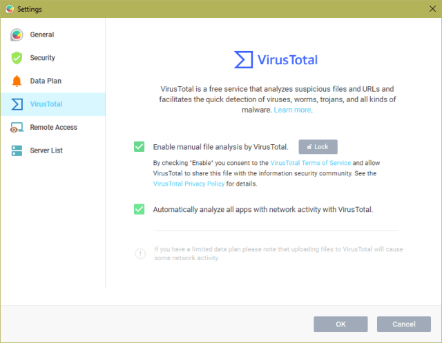 GlassWire Settings VirsTotal - GlassWire 2.0 - A Nice Looking Network Security Monitor and Firewall Tool