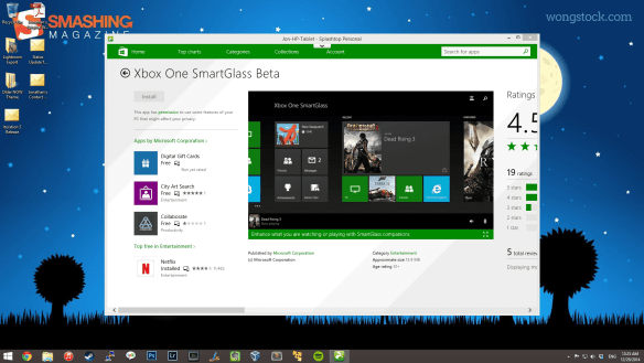 Windows 8.1 Tablet Screenshots