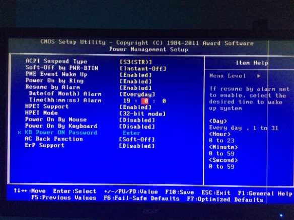 BIOS Power Management