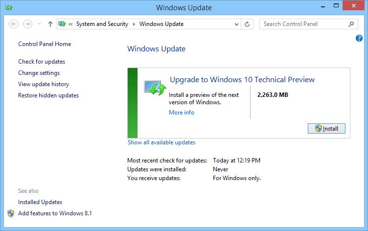 Windows 8.1 Update Auf Windows 10