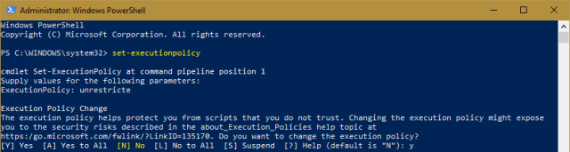 PowerShell - Set-SecurityPolicy