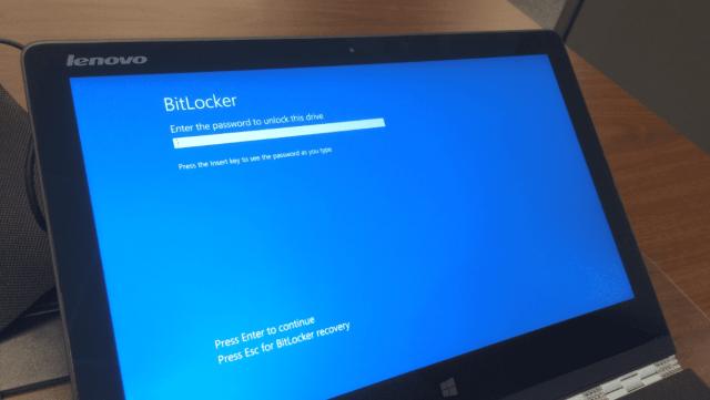 BitLocker password at boot