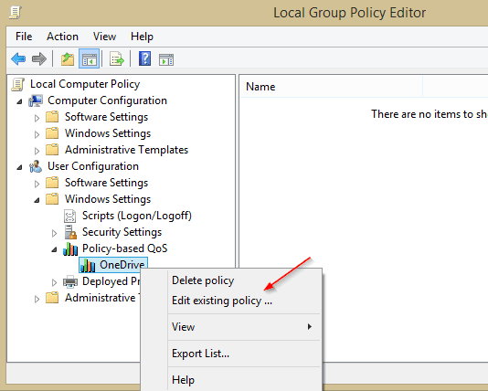 Policy-based QoS