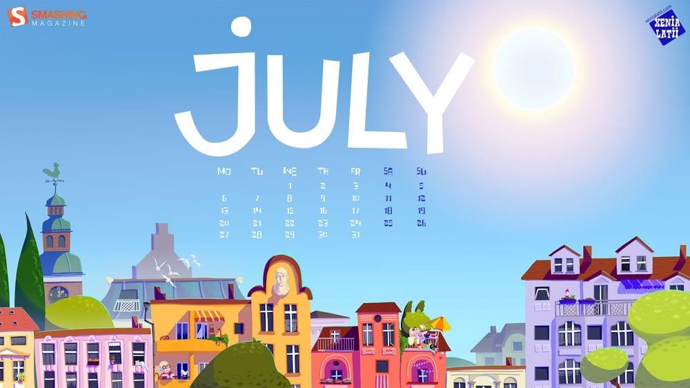 July Wallpaper