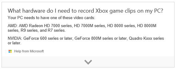 Hardware requirement for xbox recording