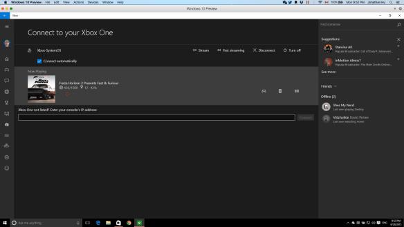 Xbox One Windows 10 Streaming Remote