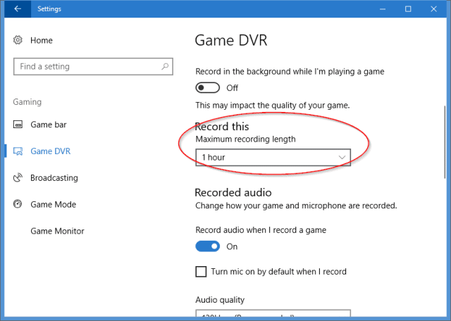 Settings Gaming Game DVR - Windows 10 Has A Screencast Recording Tool Built-In, and Here is How To Use it