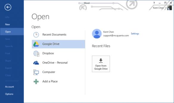 Word - Google Drive