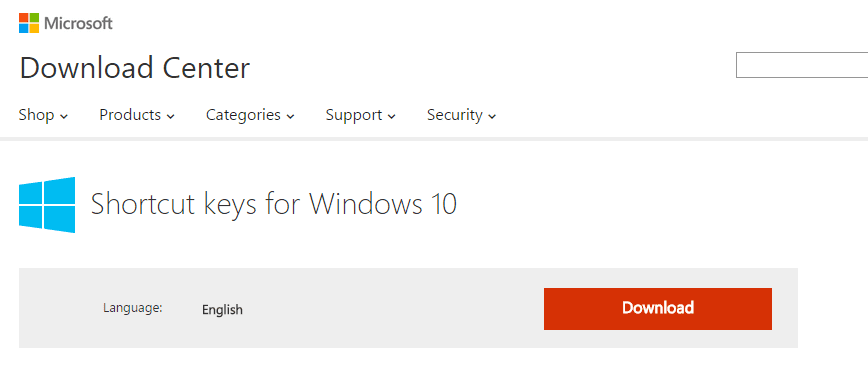 how to set shortcut keys in windows 10