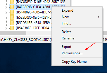 Registry Key - Permission