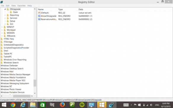 Windows 10 Registry Hack