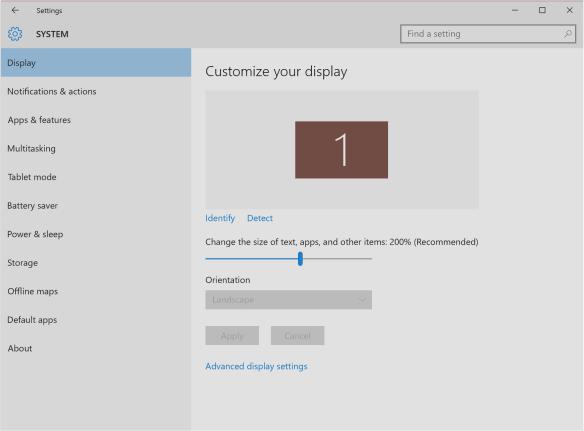 Windows 10 200% Scale in Retina