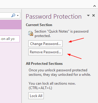 how to change password in onenote online